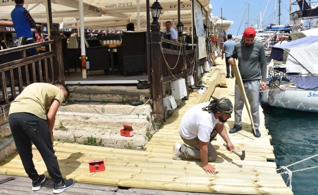 Girne Antik Liman'daki sorunlar giderildi