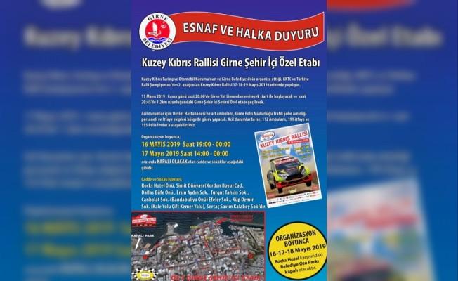 Girne'de bazı yollar trafiğe kapanacak