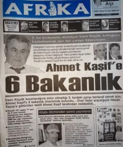 AHMET KAŞİF'E ALTI BAKANLIK!!!