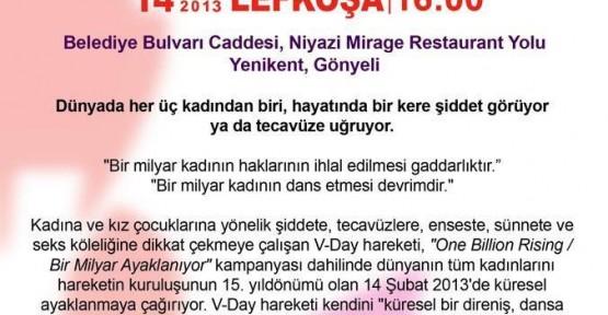 """""""BİR MİLYAR AYAKLANIYOR"""" ETKİNLİĞİNE GAZETECİLER BİRLİĞİ'NDEN DESTEK"""