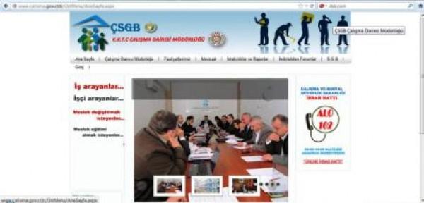 Çalışma Dairesi Müdürlüğü İnternet Sitesi Yayında
