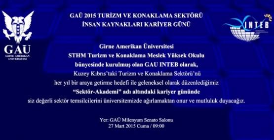 GAÜ'DE TURİZM KONULU KARİYER GÜNÜ