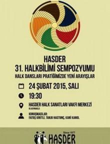 """""""HASDER 31.HALKBİLİMİ SEMPOZYUMU"""""""