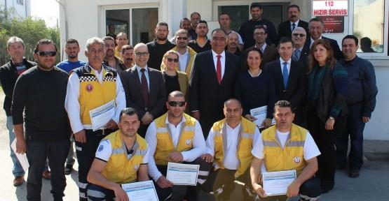 """HIZIR 112 PERSONELİNİN """"İLERİ SÜRÜŞ EĞİTİMİ"""" TAMAMLANDI"""