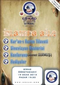 """""""İSLAMDA AİLE"""" KONULU KONFERANS"""