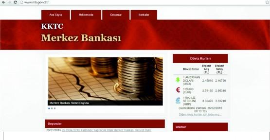 KKTC MERKEZ BANKASI YENİ İNTERNET SAYFASINI KULLANIMA AÇTI