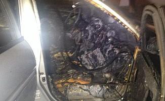 Hamitköy'de araç kundaklandı...