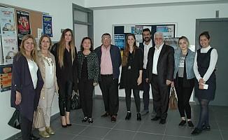 Konuk gazeteciler GAÜ İletişim Fakültesi'nde...