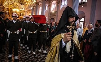 Kıbrıs gazisi için kilisede tören