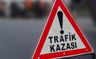 Lefkoşa–Güzelyurt ana yolunda trafik kazası!