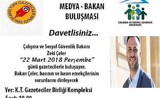 'Medya-Çalışma Bakanı Buluşması' perşembe günü
