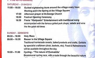 Aziz George Festivali, hafta sonu
