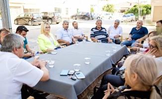 DP adayı Eroğlu, ziyaretlerini sürdürüyor