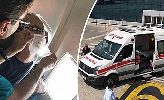 Uçakta kalp krizi geçirdi!
