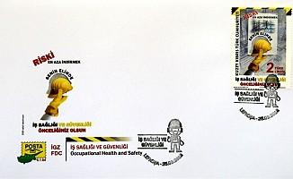 """Posta Dairesi'nden """"İş Sağlığı ve Güvenliği"""" konulu yeni pul serisi"""
