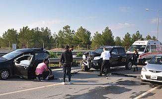 Lefkoşa'da trafik kazası...