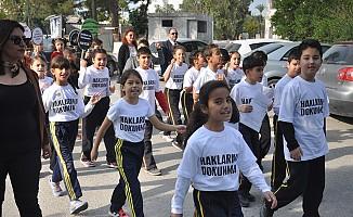 Şht. Tuncer İlkokulu öğrencileri yürüyüş düzenledi