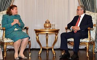 Akıncı, Avusturya Büyükelçisiyle görüştü