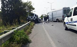 Lefkoşa-Girne yolundaki kaza ucuz atlatıldı