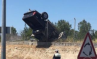 Trafik kazasında 2 genç kız yaralandı