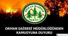 ORMAN DAİRESİ'NDEN DUYURULUR