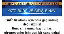 KKTC BURS VE GİRİŞ SINAVI