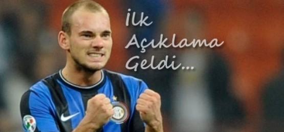 Wesley Sneijder ilk kez konuştu