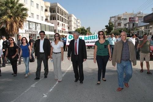 CTP-BG Lefkoşa Türk Belediyesi önünde eylem