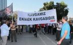 KTAMS Lefkoşa Türk Belediyesi önünde eylem