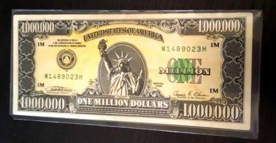 1 MİLYON DOLARLIK BANKNOTU SATMAK İSTEDİ