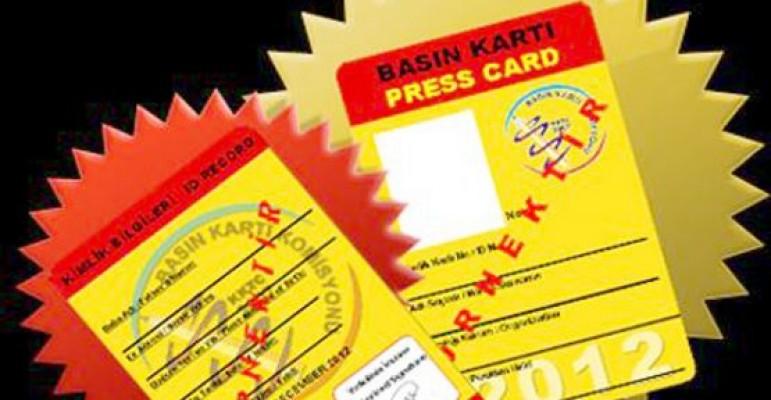 2017 yılı sarı basın kartları verilmeye başlandı