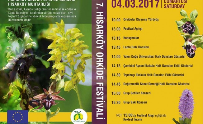 7.Hisarköy Orkide Festivali 4-5 MART'TA