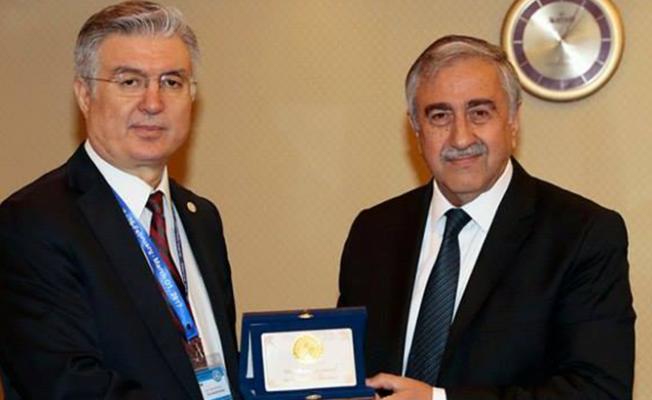Akıncı, EİT Genel Sekreteri Akça'yı kabul etti