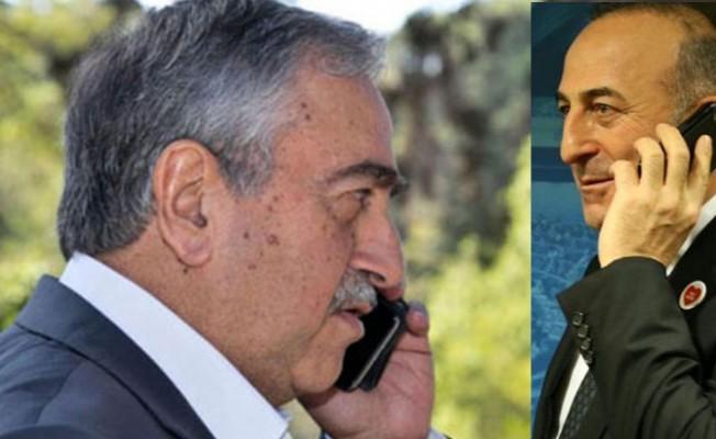 Çavuşoğlu ile Akıncı telefonda görüştü