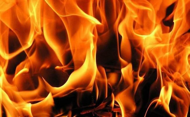 Demirhan'da yangın