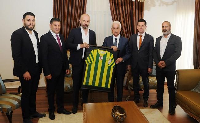 Eroğlu, MTG kulübü yeni yönetim kurulunu kabul etti.