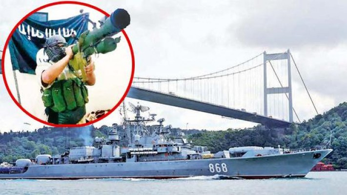İstanbul Boğazı'nda füzeli saldırı alarmı!