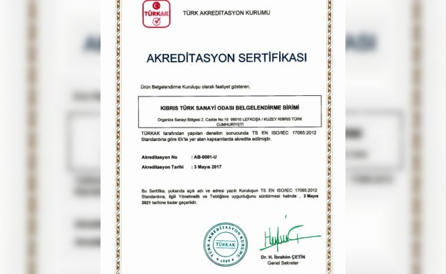 "KTSO ""Türkak""a akredite oldu"