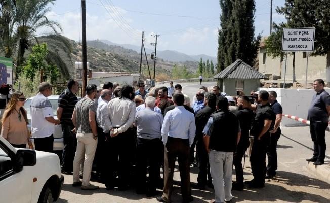 Parti temsilcileri Aplıç'ta incelemelerde bulundu