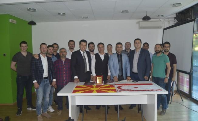 Türk-Bir Üsküp'te temaslarda bulundu