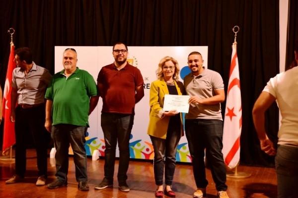 Gençlik Kampı'nda görev alanlara teşekkür belgesi...