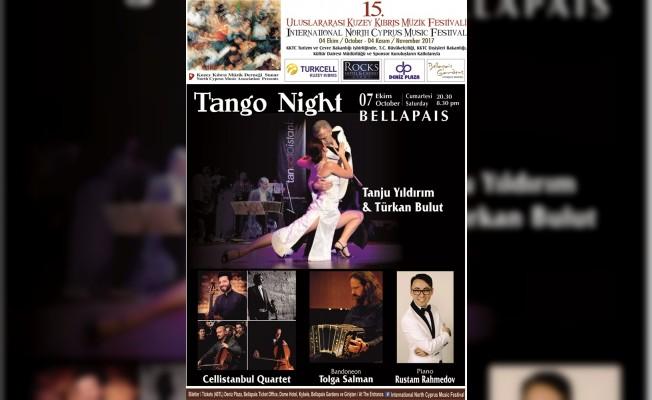 Kıbrıs Müzik Festivali'nde tango gösterisi