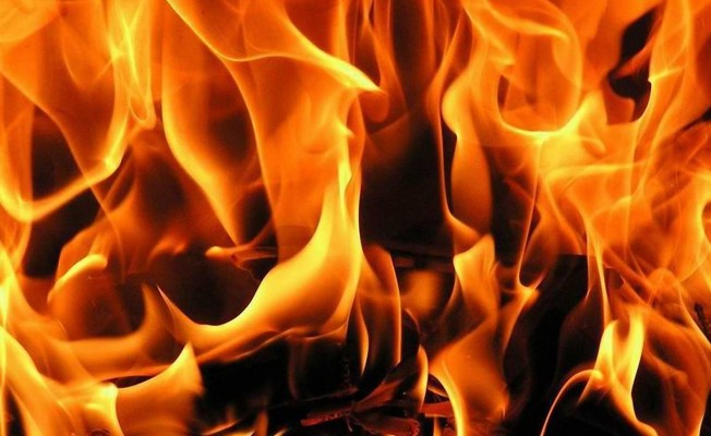 Lefkoşa'da iş yerinde yangın