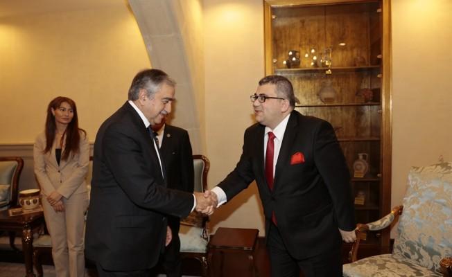 Akıncı, Türk Asya Stratejik Araştırmalar Merkezi heyetini kabul etti
