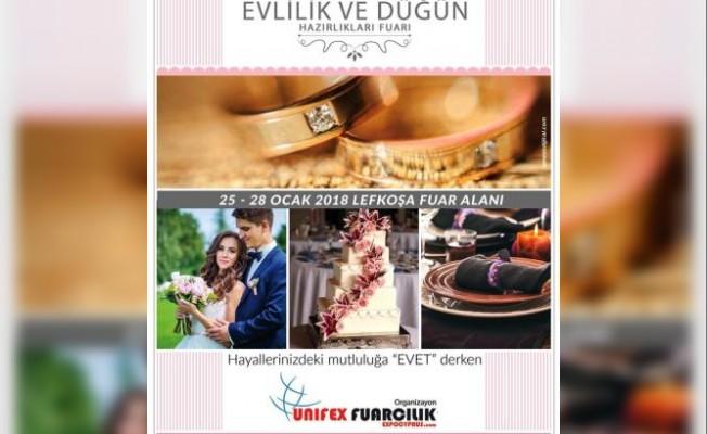 """""""8. Evlilik ve Düğün Hazırlıkları Fuarı"""" 25 Ocak'ta"""