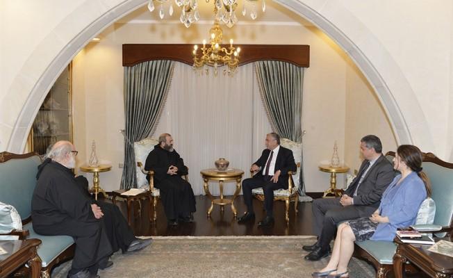 Akıncı, Maronit Başrahip Hashem'i kabul etti