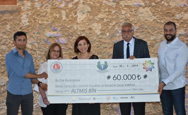 Lösemili çocuklara 60 Bin TL bağış...