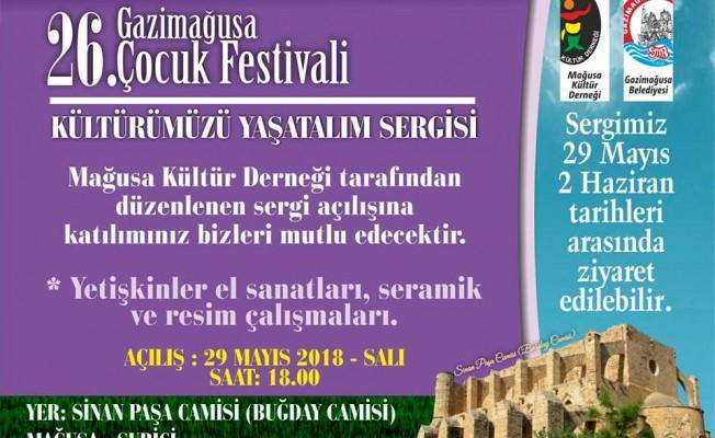 """Gazimağusa'da """"Kültürümüzü Yaşatalım"""" sergisi"""