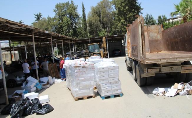6 ton kaçak et çöplükte imha edilecek