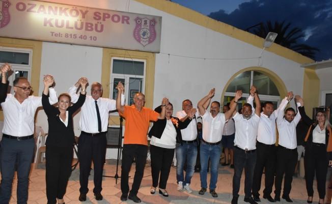 Güngördü, Ozanköy'de miting düzenledi.